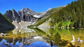Όμορφο πανόραμα λιμνών βουνών, καναδικά βουνά Στοκ φωτογραφία με δικαίωμα ελεύθερης χρήσης