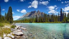Όμορφο πανόραμα λιμνών βουνών, καναδικά βουνά Στοκ εικόνες με δικαίωμα ελεύθερης χρήσης