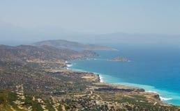 Όμορφο πανόραμα τοπίων θάλασσας της Κρήτης, Ελλάδα Στοκ Εικόνα
