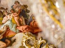 Όμορφο παλάτι Nymphenburg ανώτατης νωπογραφίας Στοκ Εικόνες