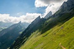 Όμορφο πεζοπορώ στις Άλπεις Appenzell Στοκ φωτογραφία με δικαίωμα ελεύθερης χρήσης