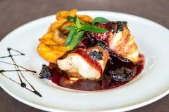 Όμορφο πιάτο γεύματος Στοκ Εικόνες