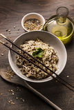 Όμορφο πιάτο quinoa του ιαπωνικού ύφους ρυζιού Στοκ φωτογραφία με δικαίωμα ελεύθερης χρήσης