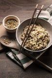 Όμορφο πιάτο quinoa του ιαπωνικού ύφους ρυζιού Στοκ Εικόνες