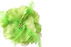 όμορφο πλαστό λουλούδι πράσινο Στοκ Φωτογραφία