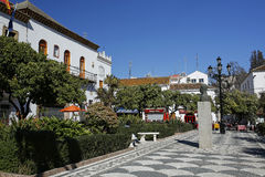 Όμορφο πορτοκαλί Square Plaza de Los Naranjos Marbella, Ανδαλουσία, Ισπανία Στοκ φωτογραφία με δικαίωμα ελεύθερης χρήσης