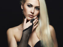Όμορφο πορτρέτο γυναικών μόδας Στοκ Φωτογραφία