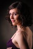 Όμορφο πορτρέτο γυναικών brunettte στοκ φωτογραφία με δικαίωμα ελεύθερης χρήσης