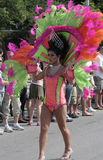 Όμορφο πορτρέτο και ζωηρόχρωμο κοστούμι στην παρέλαση υπερηφάνειας Indy Στοκ φωτογραφίες με δικαίωμα ελεύθερης χρήσης