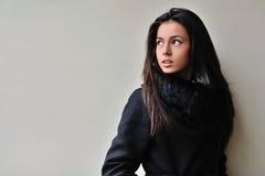 Όμορφο πορτρέτο κοριτσιών Brunette Στοκ Εικόνες