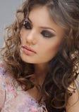 όμορφο πορτρέτο κοριτσιών makeup Στοκ Φωτογραφία