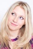 όμορφο πορτρέτο μόδας θρόμβ& Στοκ Εικόνες