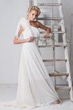 όμορφο πορτρέτο νυφών γάμος κατάταξης τεμαχίων φορεμάτων στοκ εικόνα