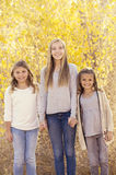 Όμορφο πορτρέτο τριών μικρών κοριτσιών υπαίθρια Στοκ Εικόνες
