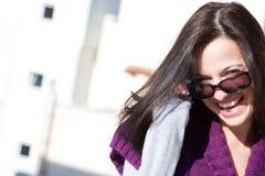 Όμορφο πορτρέτο brunette Στοκ Εικόνες
