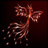 Όμορφο πουλί του Phoenix διανυσματική απεικόνιση