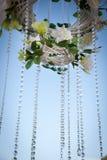 Όμορφο, πολυτελές γαμήλιο ντεκόρ των φυσικών χρωμάτων, λουλούδια, Στοκ φωτογραφία με δικαίωμα ελεύθερης χρήσης