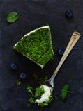 Όμορφο πράσινο κέικ με το σπανάκι Στοκ Φωτογραφίες