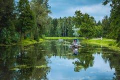 όμορφο πράσινο πάρκο Στοκ φωτογραφία με δικαίωμα ελεύθερης χρήσης