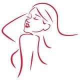 Όμορφο προκλητικό διάνυσμα γραμμών τέχνης γυναικών απλό Στοκ φωτογραφία με δικαίωμα ελεύθερης χρήσης