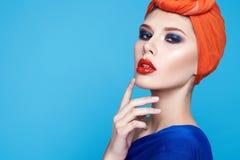 Όμορφο προκλητικό woman makeup manicure spa σαλόνι ομορφιάς Στοκ Εικόνες