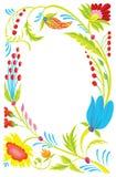 όμορφο πρότυπο λουλου&delt διανυσματική απεικόνιση