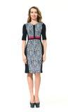 Όμορφο πρότυπο μόδας γυναικών Busyness στο θερινό φόρεμα Στοκ Εικόνα