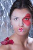 όμορφο πρότυπο πορτρέτο κά&lambd Στοκ εικόνα με δικαίωμα ελεύθερης χρήσης