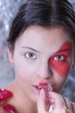 όμορφο πρότυπο πορτρέτο κά&lambd Στοκ φωτογραφία με δικαίωμα ελεύθερης χρήσης