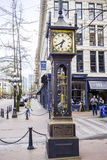 Όμορφο ρολόι ατμού στο Βανκούβερ - ένα διάσημο ορόσημο στην παλαιά πόλη - ΒΑΝΚΟΥΒΕΡ - ΚΑΝΑΔΑΣ - 12 Απριλίου 2017 Στοκ Εικόνες