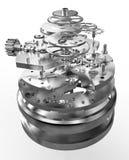 όμορφο ρολόι φωτογραφιών μηχανισμών ανασκόπησης πολύ Στοκ Εικόνες