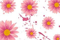 Όμορφο ρόδινο υπόβαθρο λουλουδιών Στοκ Εικόνες