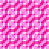 Όμορφο ρόδινο άνευ ραφής γεωμετρικό υπόβαθρο πολυγώνων εικονοκυττάρου διανυσματική απεικόνιση