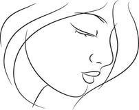 όμορφο σκίτσο κοριτσιών διανυσματική απεικόνιση