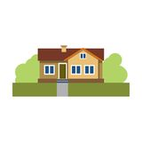 όμορφο σπίτι Η ιδιοκτησία townhouse Κτήριο Επιχείρηση 10 eps απομονωμένος διάνυσμα Στοκ φωτογραφίες με δικαίωμα ελεύθερης χρήσης