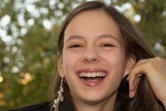 όμορφο στενό κορίτσι που &gamm Στοκ Φωτογραφία