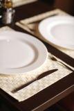 όμορφο στενό λευκό πιάτων &epsil Στοκ φωτογραφία με δικαίωμα ελεύθερης χρήσης