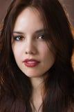 όμορφο στενό πορτρέτο κοριτσιών επάνω Στοκ Εικόνες