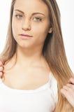 όμορφο στενό πρόσωπο - επάνω &ga Στοκ εικόνες με δικαίωμα ελεύθερης χρήσης