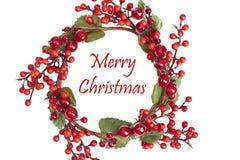 όμορφο στεφάνι Χριστουγέν Στοκ εικόνες με δικαίωμα ελεύθερης χρήσης