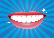 Όμορφο στόμα χαμόγελου με καλό υγιή Στοκ φωτογραφία με δικαίωμα ελεύθερης χρήσης