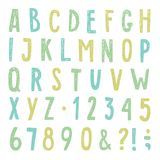 Όμορφο συρμένο χέρι αλφάβητο επίσης corel σύρετε το διάνυσμα απεικόνισης Στοκ εικόνες με δικαίωμα ελεύθερης χρήσης