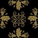 Όμορφο σχέδιο για το άνευ ραφής σχέδιο του χρυσού και του Μαύρου διανυσματική απεικόνιση