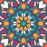 Όμορφο σχέδιο διακοσμήσεων με τη διανυσματική απεικόνιση mandala Στοκ εικόνες με δικαίωμα ελεύθερης χρήσης
