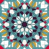 Όμορφο σχέδιο διακοσμήσεων με τη διανυσματική απεικόνιση mandala Στοκ Εικόνα