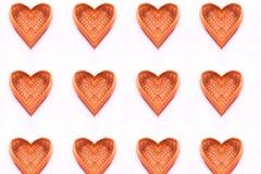 Όμορφο σχέδιο καλαθιών μορφής καρδιών μπαμπού στοκ φωτογραφία με δικαίωμα ελεύθερης χρήσης