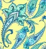 Όμορφο σχέδιο του Paisley στα ευγενή χρώματα Στοκ εικόνα με δικαίωμα ελεύθερης χρήσης