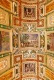 Όμορφο σχεδιασμένο εσωτερικό του μουσείου Βατικάνου Στοκ Φωτογραφίες