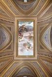 Όμορφο σχεδιασμένο εσωτερικό του μουσείου Βατικάνου Στοκ εικόνα με δικαίωμα ελεύθερης χρήσης