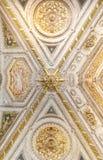 Όμορφο σχεδιασμένο εσωτερικό του μουσείου Βατικάνου Στοκ Εικόνες